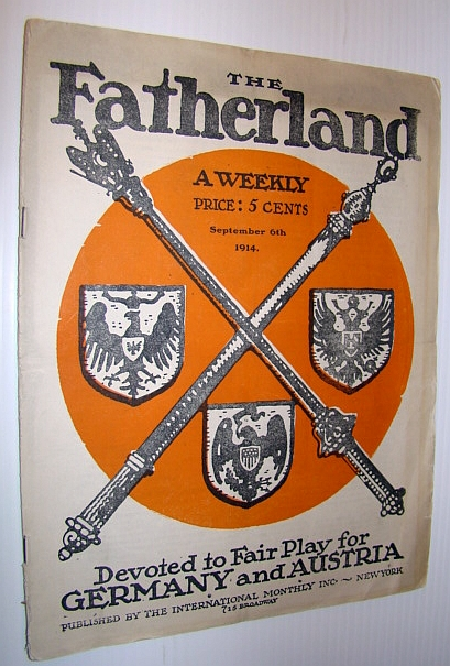 Image for The Fatherland - A Weekly Devoted to Fair Play for Germany and Austria, September 6th, 1914