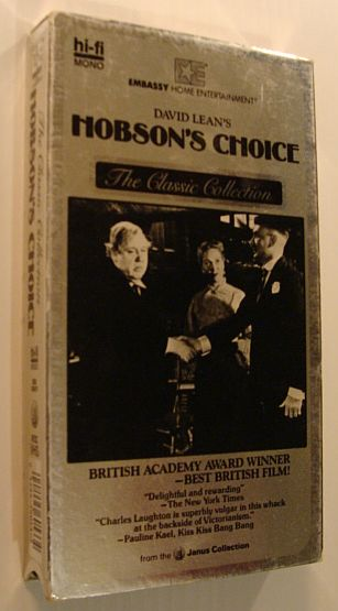 Hobson's Choice - VHS Movie Tape with Case, Author Not Stated