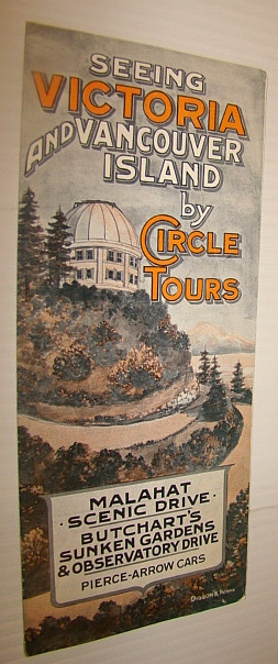 Image for Seeing Victoria and Vancouver Island By Circle Tours - Malahat Scenic Drives, Butchart's Sunken Gardens & Observatory Drive - Pierce-Arrow Cars