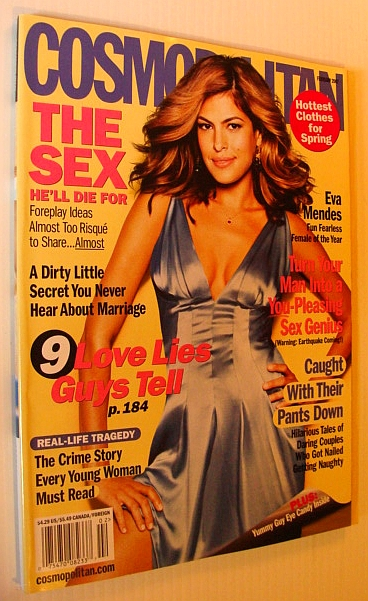 Image for Cosmopolitan Magazine, February 2007 - Eva Mendes Cover