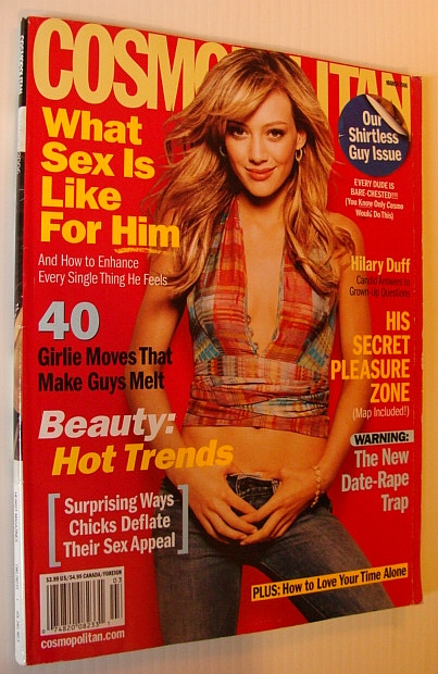 Image for Cosmopolitan Magazine, March 2006 - Hilary Duff Cover