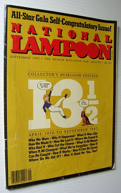 MULTIPLE CONTRIBUTORS - National Lampoon Magazine, September 1983 - All-Star Gala Self-Congratulatory Issue!