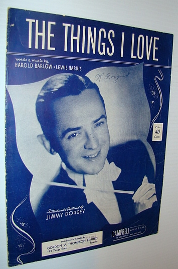Image for The Things I Love - Sheet Music for Piano and Voice with Guitar Chords