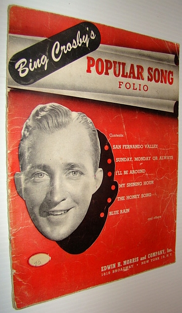 Image for Bing Crosby's Popular Song Folio - Sheet Music for Piano and Voice with Guitar Chords