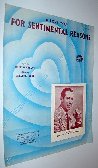 Image for (I Love You) For Sentimental Reasons - Sheet Music for Voice and Piano with Chords