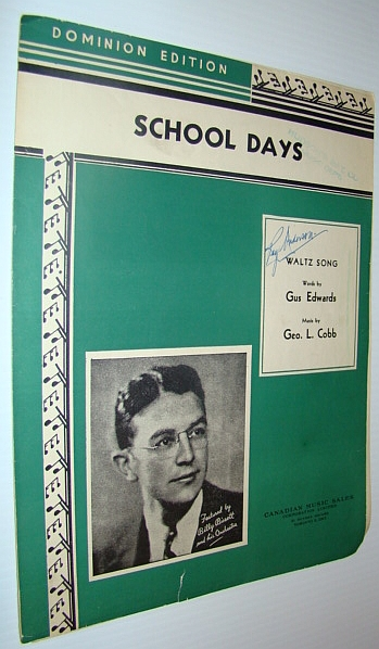 Image for School Days - When We Were a Couple of Kids - Waltz Music: Sheet Music for Voice and Piano