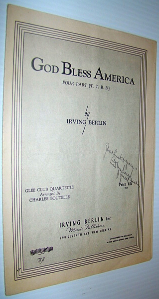 Image for God Bless America - Sheet Music for Glee Club Quartette  - Sheet Music for Piano and Four Part Vocal (T.T.B.B.)