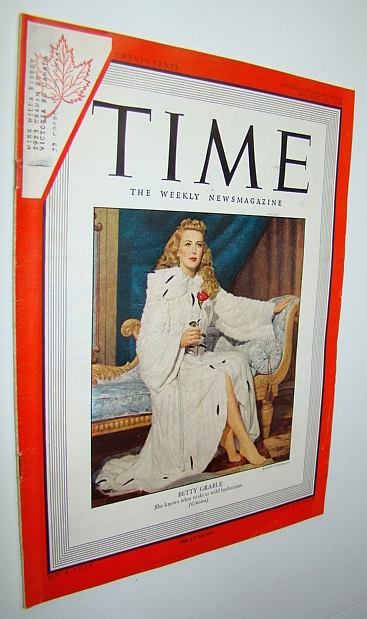 Time Magazine, August 23, 1948 - Betty Grable Cover Illustration, Multiple Contributors