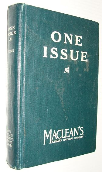 Maclean's Magazine, 1 August 1921 - Salesman's Sample, Multiple Contributors