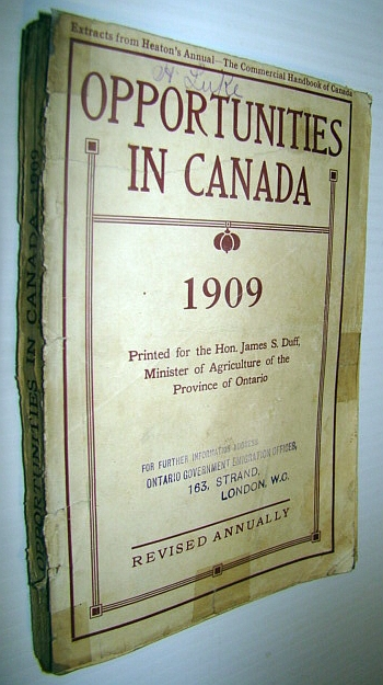 Image for Opportunities in Canada 1909: A Canadian Encyclopedia of General and Local Inforamtion (Extracts from Heaton's Annual)
