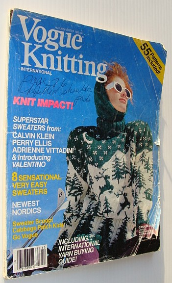 Vogue Knitting Internationa Magazine: Autumn/Winter 1985/1986, Author Not Stated