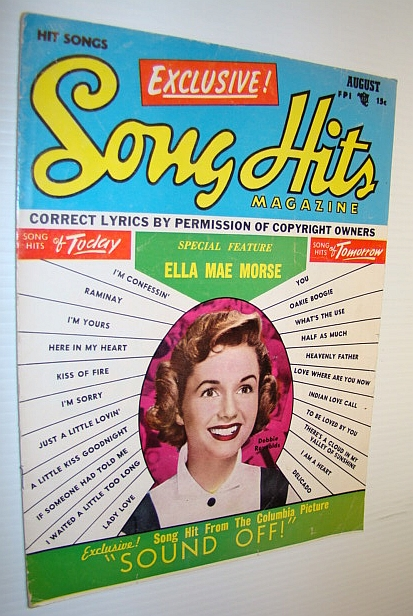 Image for Song Hits Magazine, August 1952 Vol. 16 No. 1