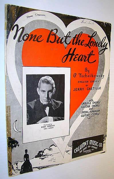 Image for None But the Lonely Heart - Sheet Music for Voice and Piano with Guitar Chords