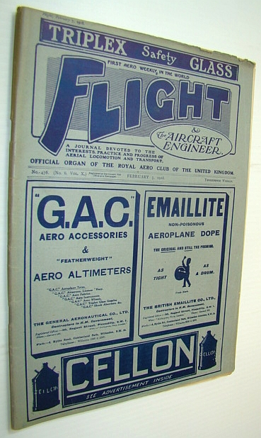 Image for Flight (Magazine) And The Aircraft Engineer, February 7, 1918 - The Italian S.V.A. Fighting Scout