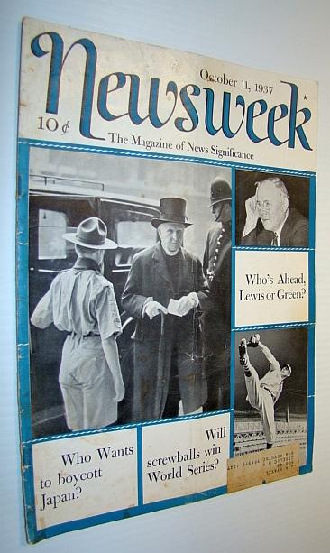 Newsweek Magazine, October 11, 1937, Multiple Contributors