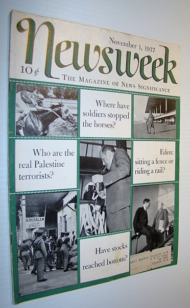 Newsweek Magazine, November 1, 1937, Multiple Contributors
