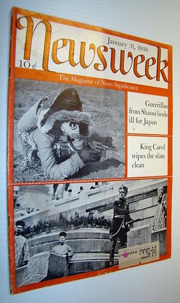 Newsweek Magazine, January 31, 1938, Multiple Contributors
