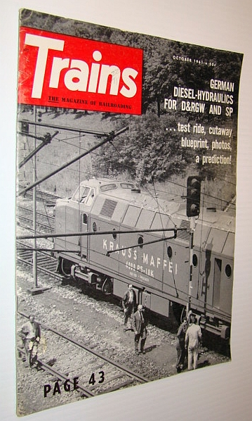Image for Trains Magazine, October 1961 - German Diesel-Hydraulics for D&RGW and SP
