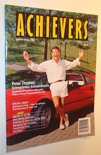Achievers Magazine, Special Issue, 1989 - Volume 2, No. 4 - Peter Thomas Cover Photo, Multiple Contributors