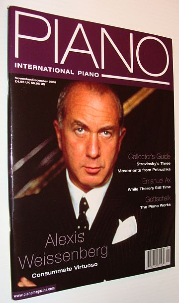International Piano Magazine, November/December 2001, Alexis Weissenberg Cover Photo, Multiple Contributors