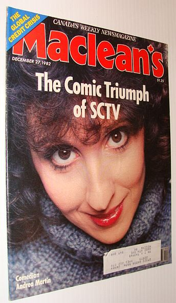 Image for Maclean's Magazine, December 27, 1982 *The Comic Triumph of SCTV - Andrea Martin Cover Photo*