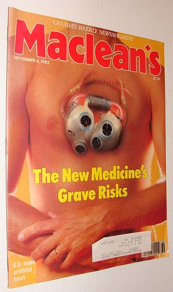 Maclean's Magazine, September 6, 1982 - The New Medicine's Grave Risks, Multiple Contributors