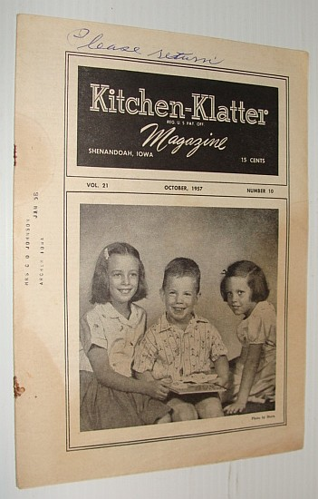 Kitchen-Klatter Magazine, October 1957, Multiple Contributors