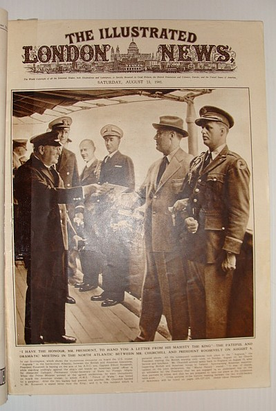 The Illustrated London News, August 23, 1941 *Cover Photo o Churchill Handing Roosevelt a Letter from the King in the North Atlantic*, Various Contributors