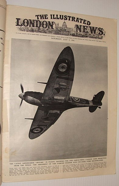 "The Illustrated London News, July 5, 1941*Cover Photo of the Latest Submarine ""Spitfire"" in Flight*, Various Contributors"