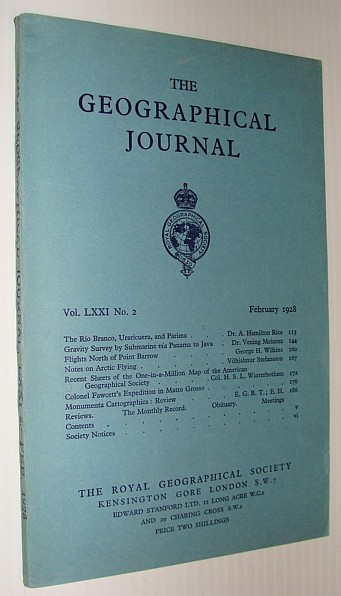 The Geographical Journal, February 1928, Multiple Contributors