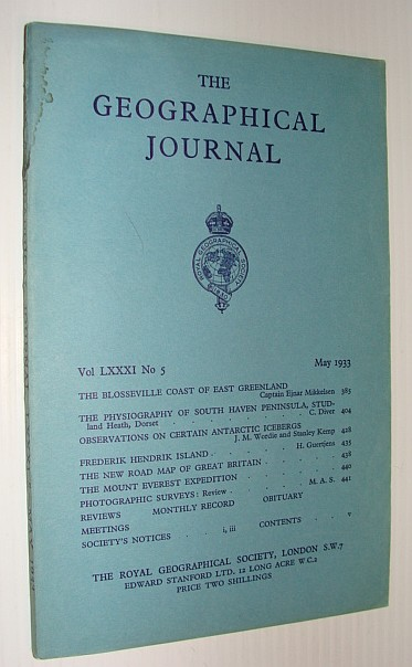 The Geographical Journal, May 1933, Multiple Contributors