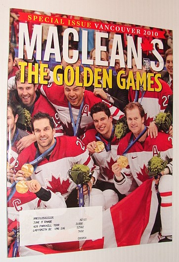 Image for Maclean's Magazine, 15 March 2010 *Special Issue - Vancouver 2010 Olympics*