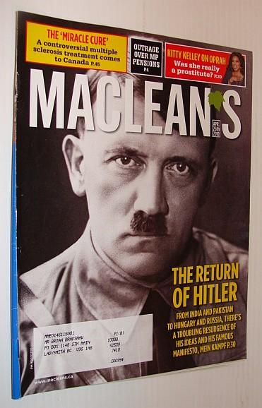 Maclean's Magazine, April 26 2010 *THE RETURN OF HITLER*, Multiple Contributors