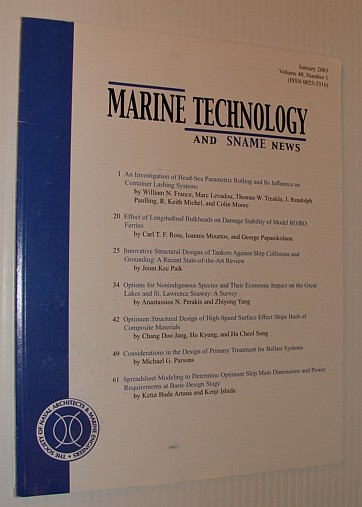 Image for Marine Technology and SNAME News, January 2003