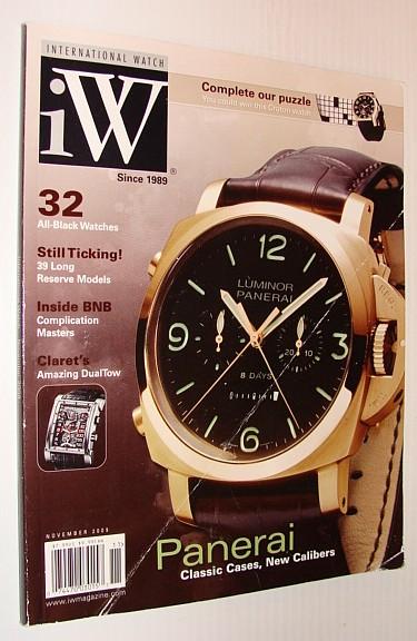 iW - International Watch Magazine, November 2009 - Panerai Cover Photo, Multiple Contributors