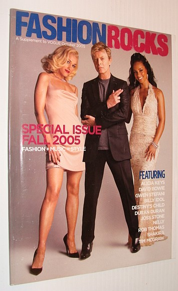 MULTIPLE CONTRIBUTORS - Fashion Rocks Magazine, A Supplement to Vogue October 2005  David Bowie Cover