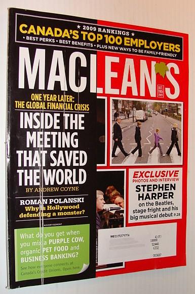 Maclean's Magazine, October 19, 2009 *Stephen Harper's Musical Debut*, Multiple Contributors