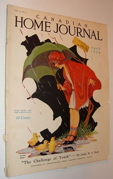 Canadian Home Journal Magazine, April 1929, Multiple Contributors