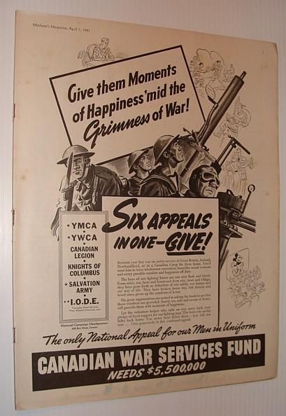 Maclean's Magazine, April 1, 1941, Multiple Contributors