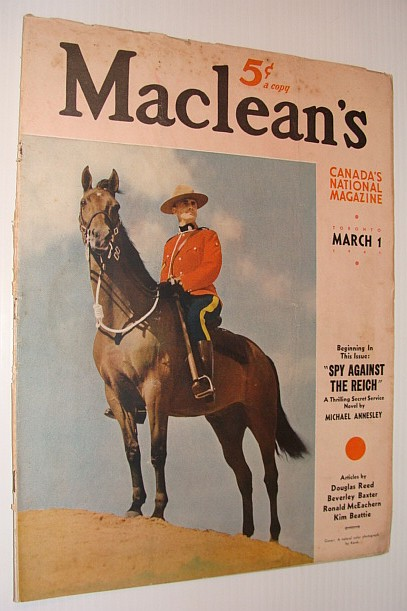 Maclean's Magazine, March 1, 1941 - Features Article By Douglas Reed, Reed, Douglas; et al
