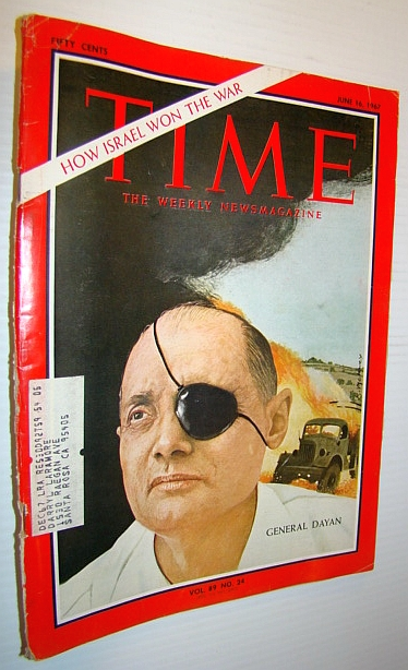 Image for Time Magazine, June 16, 1967 - Moshe Dayan Cover