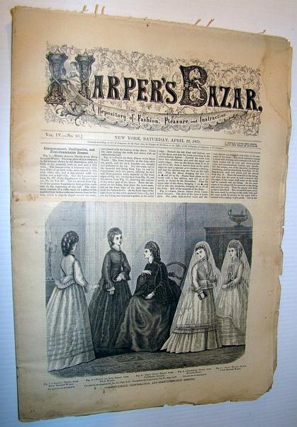Harper's Bazar Bazaar), April 22, 1871 - A Repository of Fashion, Pleasure, and Instruction, Multiple Contributors