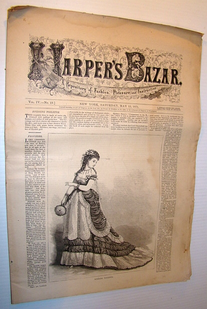 Image for Harper's Bazar (Bazaar), May 13, 1871 - A Repository of Fashion, Pleasure, and Instruction