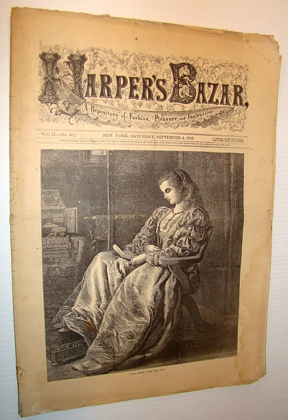 Image for Harper's Bazar (Bazaar), September 4 1869 - A Repository of Fashion, Pleasure, and Instruction