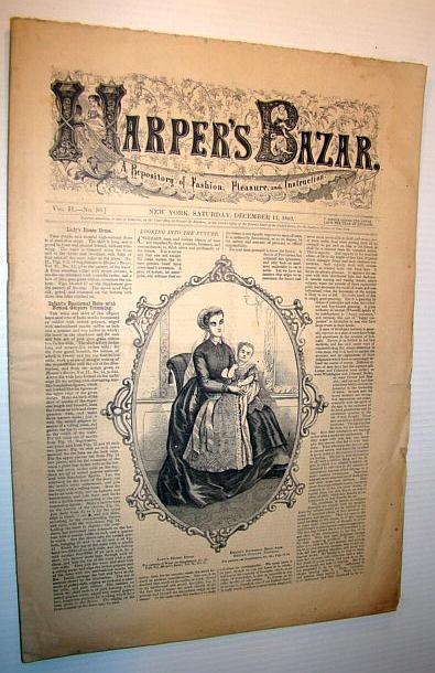 Harper's Bazar (Bazaar), December 11, 1869 - A Repository of Fashion, Pleasure, and Instruction, Multiple Contributors