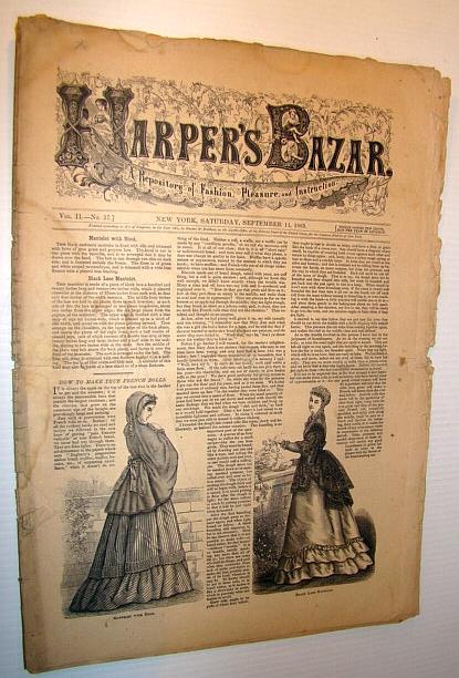 Harper's Bazar (Bazaar), September 11, 1869 - A Repository of Fashion, Pleasure, and Instruction, Multiple Contributors