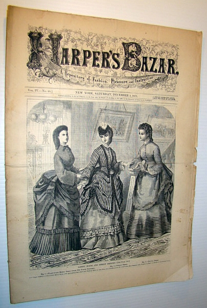 Image for Harper's Bazar (Bazaar) Magazine, December 2, 1871 - A Repository of Fashion, Pleasure, and Instruction