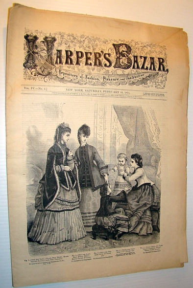 Image for Harper's Bazar (Bazaar) Magazine, 11 February, 1871 - A Repository of Fashion, Pleasure, and Instruction