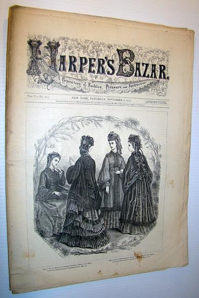 Image for Harper's Bazar (Bazaar) Magazine, November 9, 1872 - A Repository of Fashion, Pleasure, and Instruction