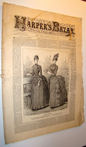 Image for Harper's Bazar (Bazaar)Magazine, July 31, 1886 - A Repository of Fashion, Pleasure, and Instruction